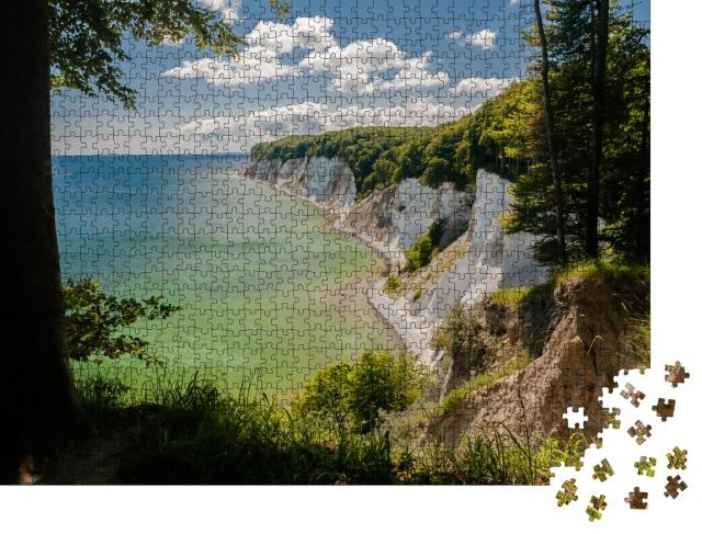 """Puzzle 1000 Teile """"Wunderschöne Kreidefelsen im Nationalpark Rügen"""""""