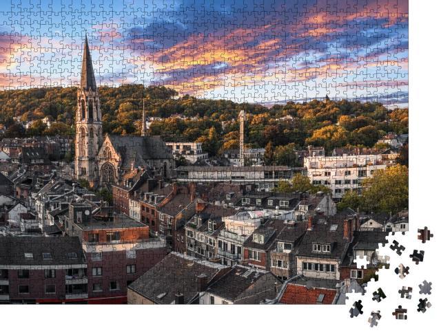 """Puzzle 1000 Teile """"Panoramablick auf den Lousberg in Aachen, Deutschland"""""""