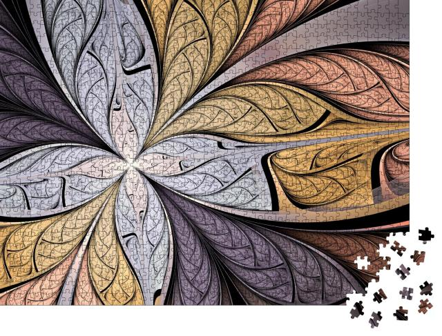 """Puzzle 1000 Teile """"Fraktale Kunst in weichen Farben"""""""