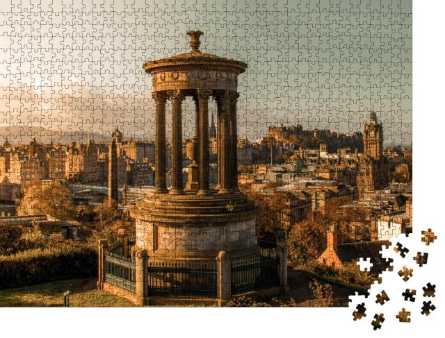 "Puzzle 1000 Teile ""Sonniger Herbsttag, Edinburgh"""