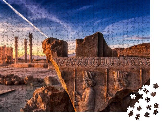 """Puzzle 1000 Teile """"Persepolis: zeremonielle Hauptstadt des Achämenidenreiches, heutiger Iran"""""""