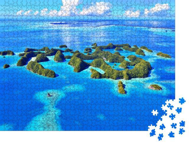 """Puzzle 1000 Teile """"Kleine Inseln, Meer und Bäume"""""""