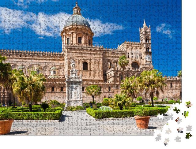 """Puzzle 1000 Teile """"Die beeindruckende Kathedrale von Palermo, erbaut 1185"""""""