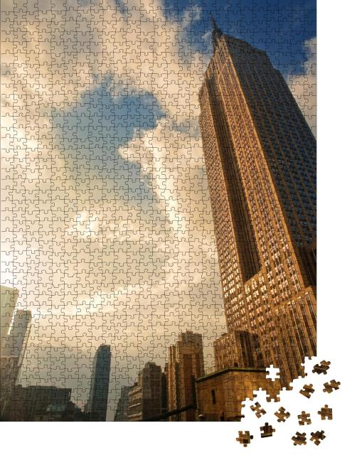 """Puzzle 1000 Teile """"Sonnenuntergang am Empire State Building, New York, USA"""""""