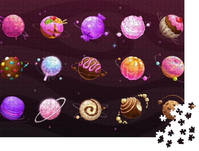 """Puzzle 1000 Teile """"Bunte Welt der Süßigkeiten, verschiedene Sorten"""""""