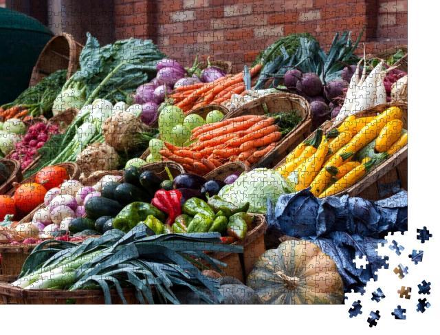 """Puzzle 1000 Teile """"Obst und Gemüse auf einem Markt in Frankreich"""""""