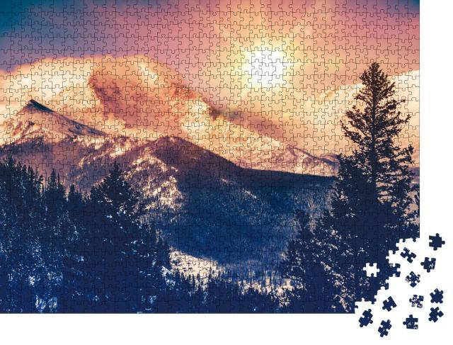 """Puzzle 1000 Teile """"Colorado Mountains Vista, Rocky Mountains"""""""