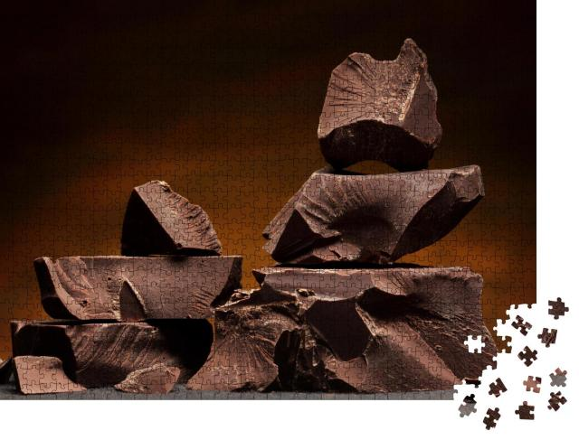 """Puzzle 1000 Teile """"Brocken aus duftender Zartbitterschokolade"""""""