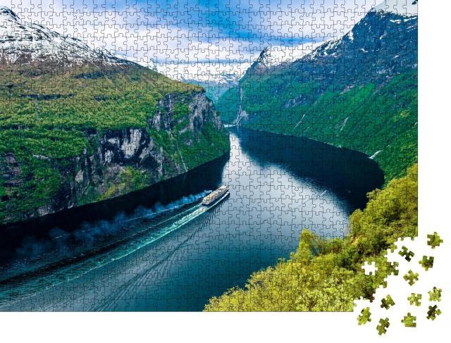 """Puzzle 1000 Teile """"Schöne Natur Norwegens: Geirangerfjord"""""""