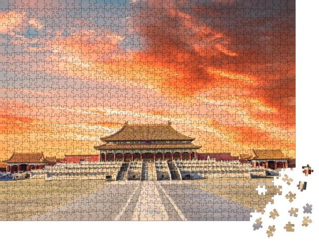 """Puzzle 1000 Teile """"Die alten Königspaläste der Verbotenen Stadt in Peking, China"""""""