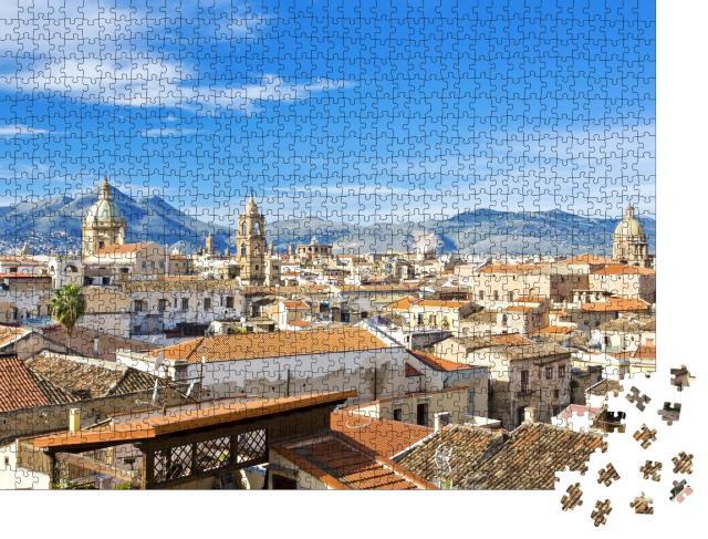 """Puzzle 1000 Teile """"Über den Dächern von Palermo"""""""