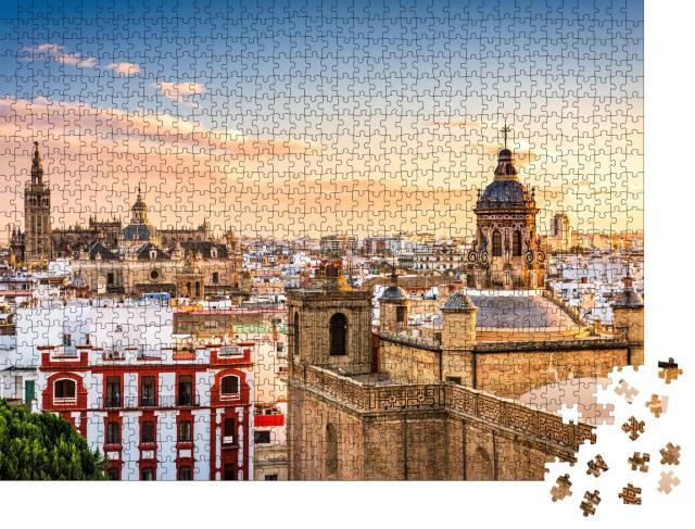 """Puzzle 1000 Teile """"Skyline der Altstadt von Sevilla, Spanien"""""""