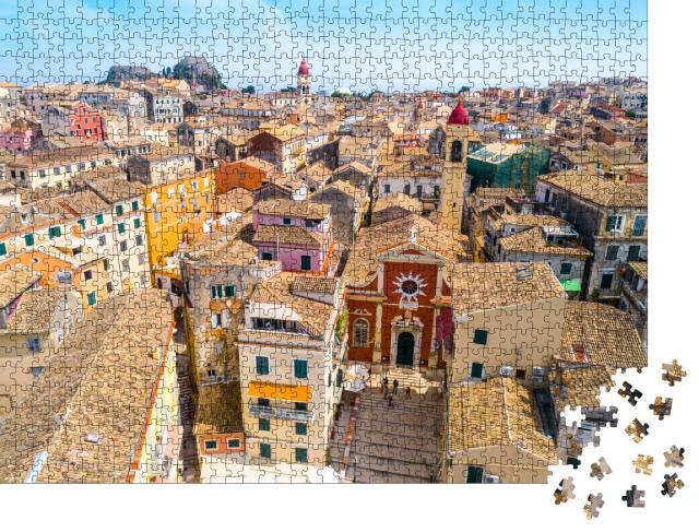 """Puzzle 1000 Teile """"Kerkyra, Hauptstadt der Insel Korfu, Griechenland"""""""