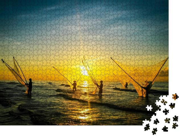 """Puzzle 1000 Teile """"Fischer in Vietnam"""""""