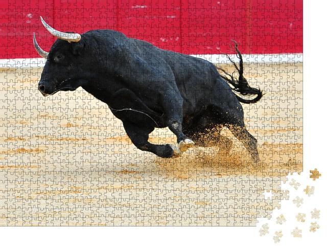 """Puzzle 1000 Teile """"Stier in Spanien"""""""