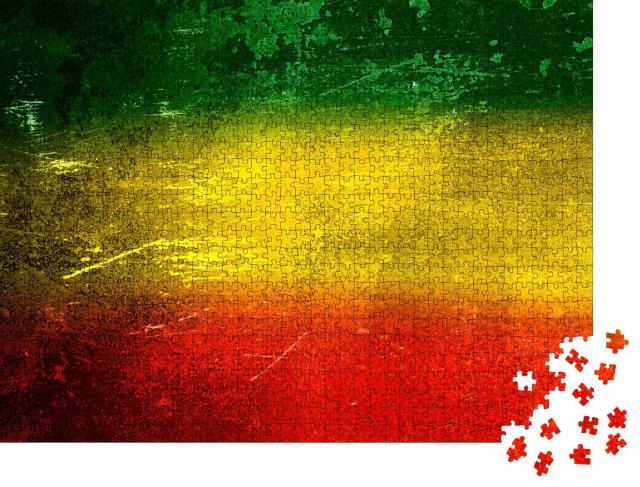"""Puzzle 1000 Teile """"Hintergrund-Textur: grün, gelb, rot"""""""