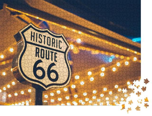 """Puzzle 1000 Teile """"Route 66 Zeichen, Kalifornien, USA"""""""