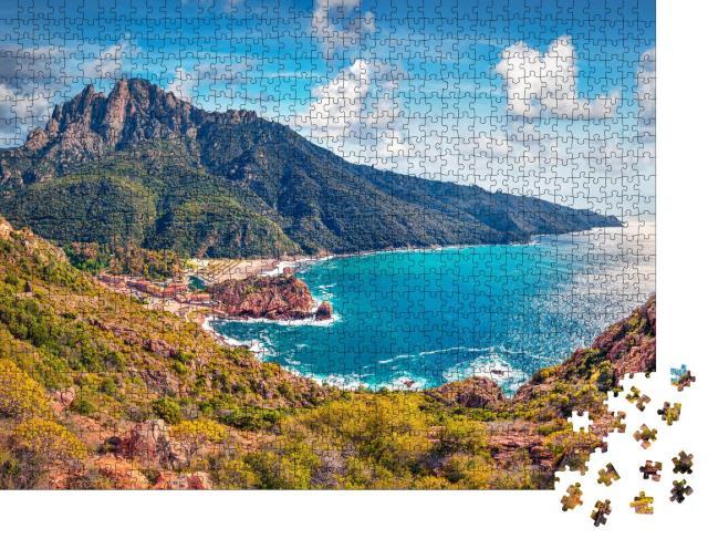 """Puzzle 1000 Teile """"Frühlingsbild aus Porto: Stadtbild mit Meer, Portugal"""""""