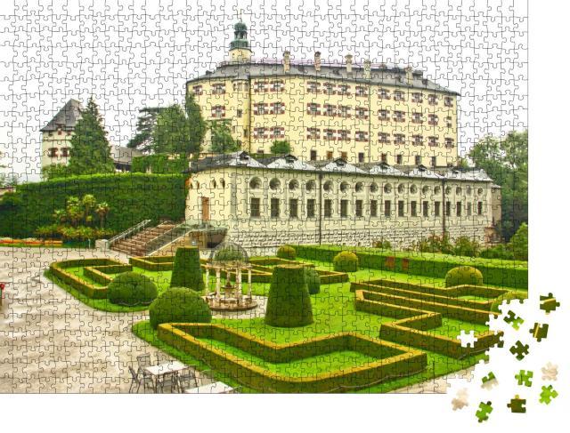 """Puzzle 1000 Teile """"Schloss Ambras mit Garten, Wahrzeichen von Innsbruck, Österreich"""""""