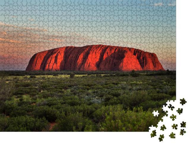 """Puzzle 1000 Teile """"Magisch: Ayers Rock in Australien"""""""