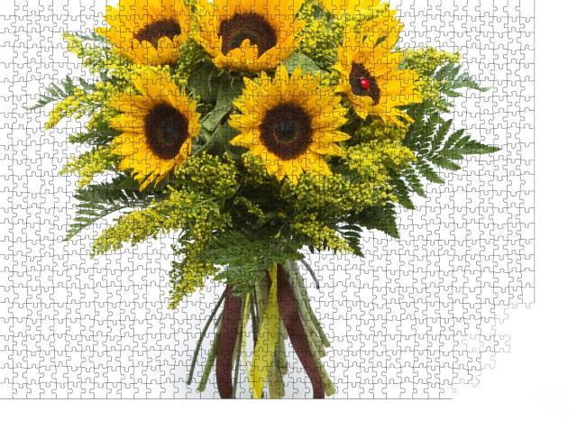 """Puzzle 1000 Teile """"Blumenstrauß aus Sonnenblumen"""""""