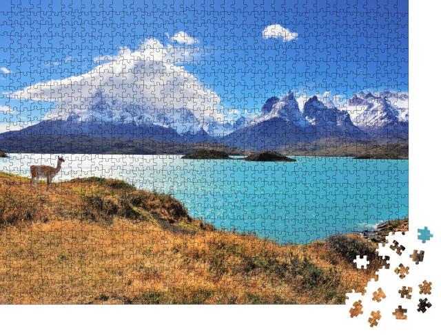 """Puzzle 1000 Teile """"Wunderschöner Nationalpark Torres del Paine im Süden Chiles"""""""
