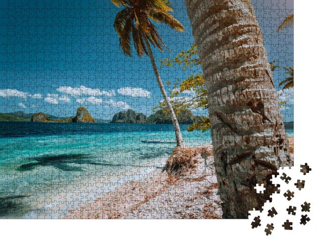 """Puzzle 1000 Teile """"Wunderschöner Palmenstrand auf den Philippinen"""""""