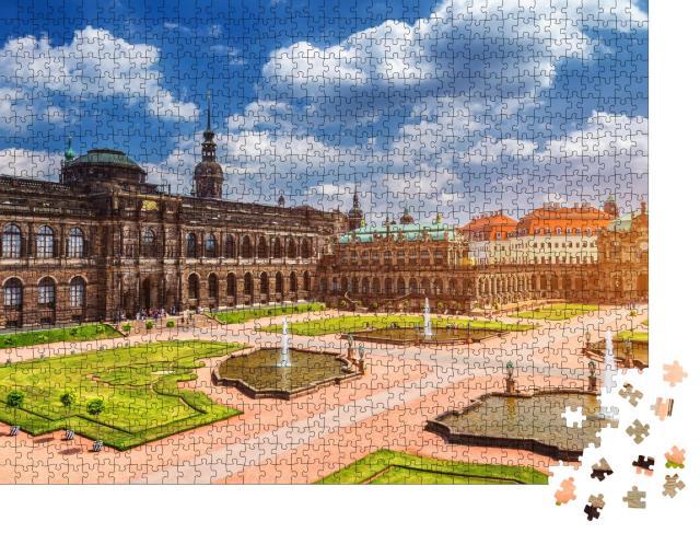 """Puzzle 1000 Teile """"Dresdner Zwinger, Kunsthalle von Dresden, Sachsen"""""""