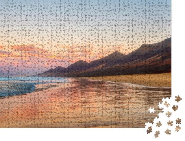 """Puzzle 1000 Teile """"Endloser Strand von Cofete, Fuerteventura, Kanarische Inseln"""""""