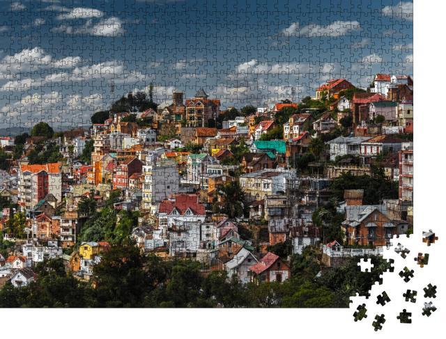 """Puzzle 1000 Teile """"Blick auf Antananarivo, Hauptstadt von Madagaskar"""""""