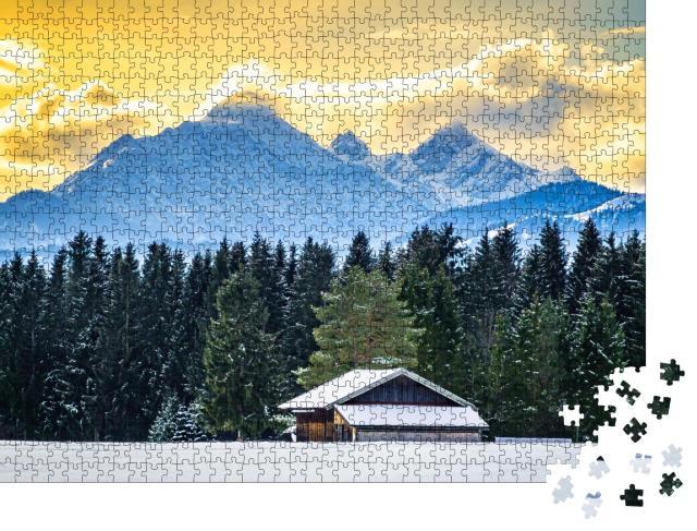 """Puzzle 1000 Teile """"Karwendel- und Wettersteingebirge bei Wallgau, Deutschland"""""""