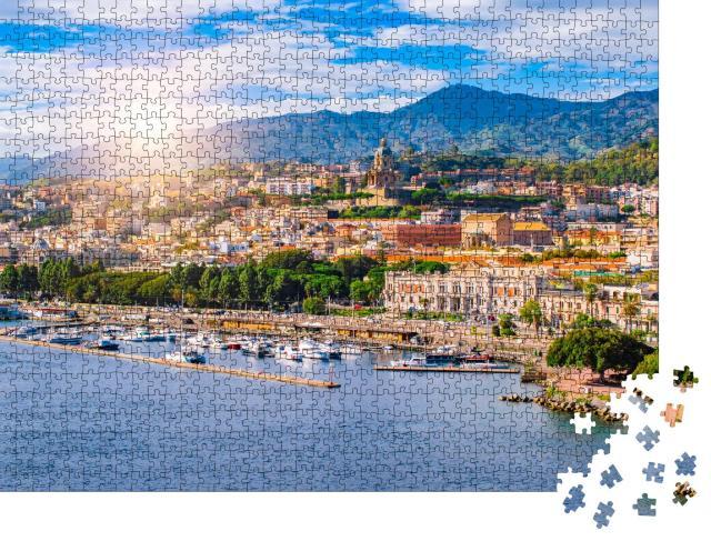 """Puzzle 1000 Teile """"Der Hafen von Messina, Sizilien, Italien"""""""