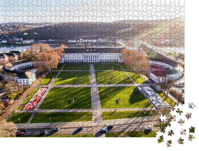 """Puzzle 1000 Teile """"Kurfürstliches Schloss mit Park in Koblenz am Rhein"""""""