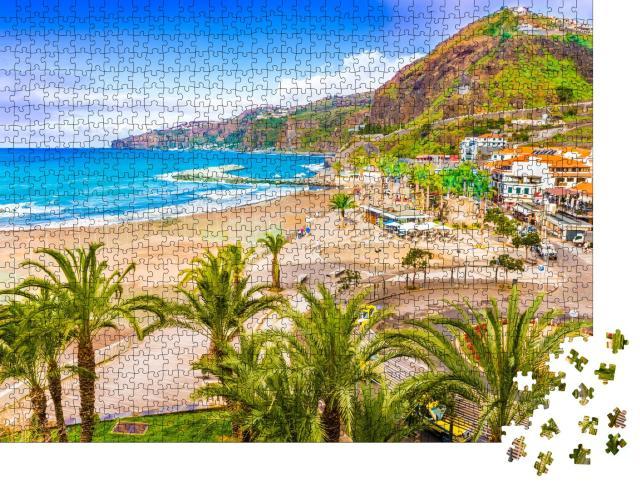 """Puzzle 1000 Teile """"Malerische Stadt Ribeira Brava, Madeira, Portugal"""""""