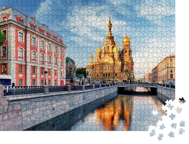 """Puzzle 1000 Teile """"Kirche des Erlösers, St. Petersburg, Russland"""""""
