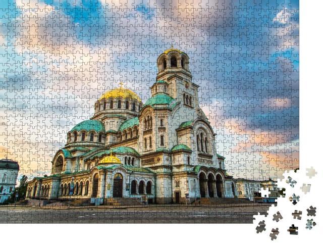 """Puzzle 1000 Teile """"St. Alexander-Newski-Kathedrale, Stadtzentrum von Sofia, Bulgarien"""""""