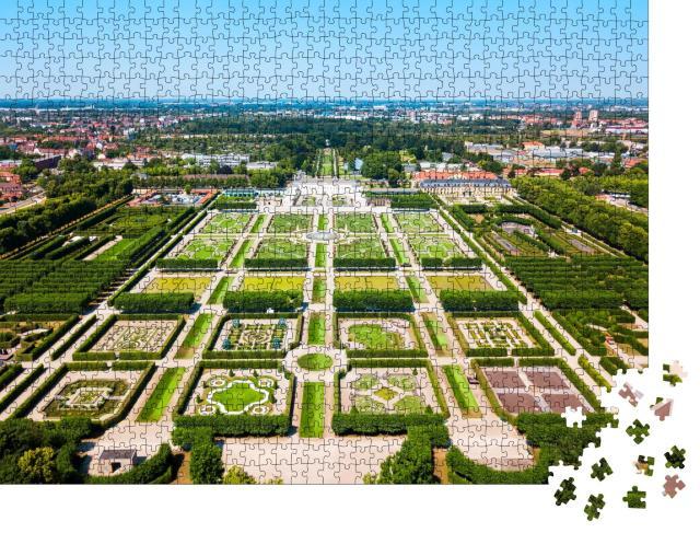 """Puzzle 1000 Teile """"Herrenhäuser Gärten des Schlosses Herrenhausen in Hannover, Deutschland"""""""
