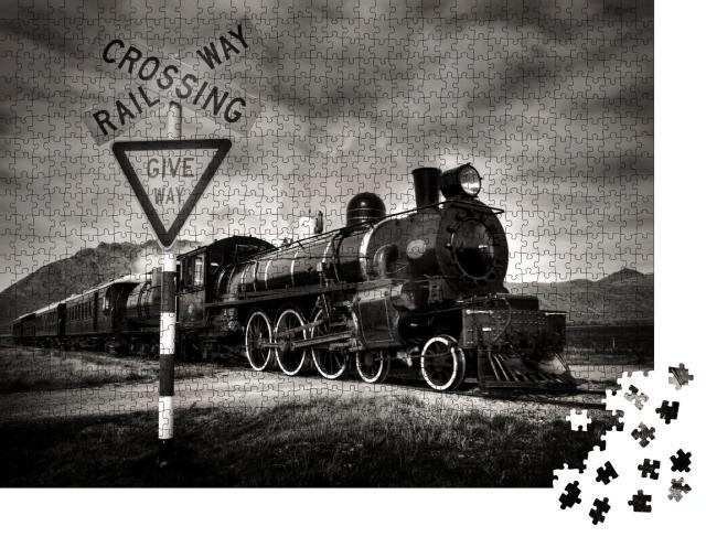 """Puzzle 1000 Teile """"Alte Dampflokomotive, Kingston, Neuseeland"""""""