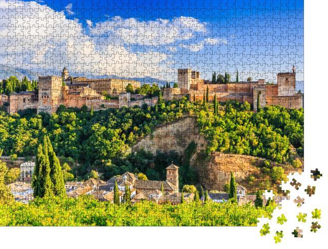 """Puzzle 1000 Teile """"Beeindruckende Festung Alhambra von Granada, Spanien"""""""