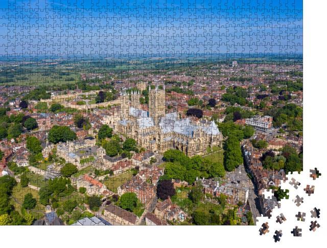 """Puzzle 1000 Teile """"Lincoln in England aus der Vogelperspektive"""""""