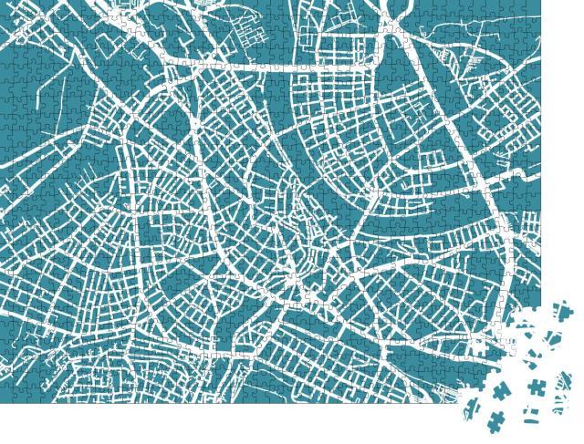 """Puzzle 1000 Teile """"Detaillierte Vektorkarte von Basel"""""""
