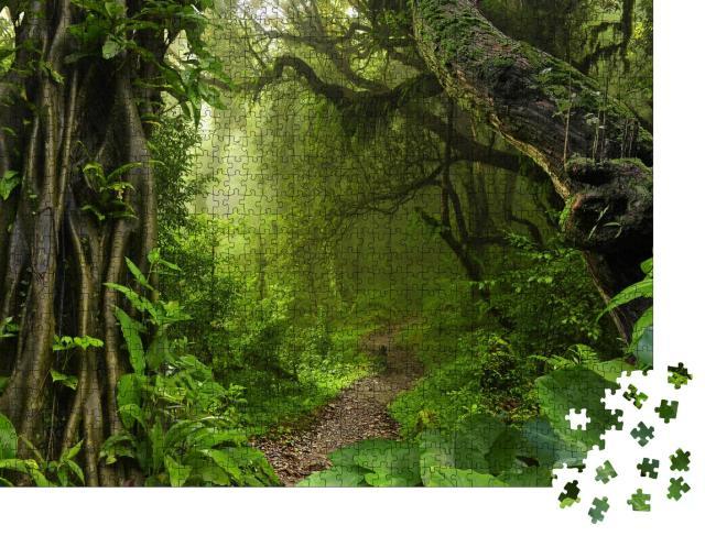 """Puzzle 1000 Teile """"Asiatischer tropischer Dschungel"""""""