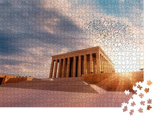 """Puzzle 1000 Teile """"Faszinierendes Mausoleum von Atatürk, Ankara, Türkei"""""""