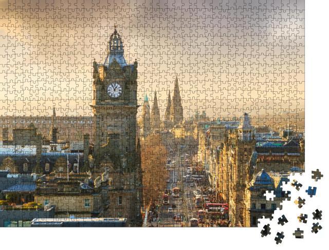 """Puzzle 1000 Teile """"Altstadt von Edinburgh mit Schloss, Schottland"""""""