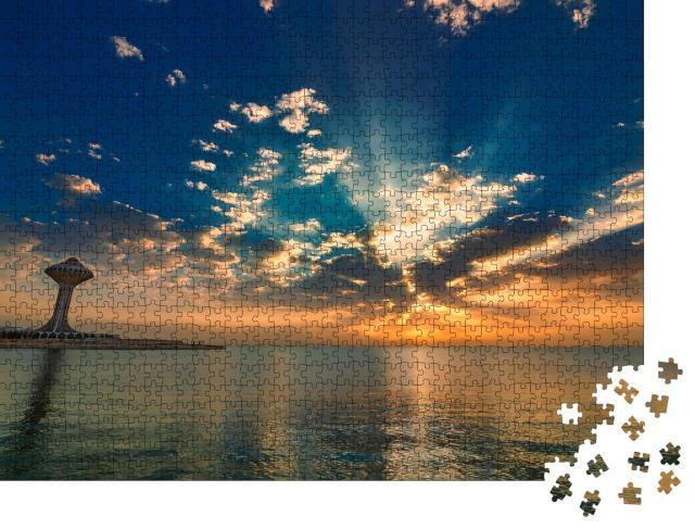 "Puzzle 1000 Teile ""Sonnenaufgang über Khobar Corniche-Saudi-Arabien"""