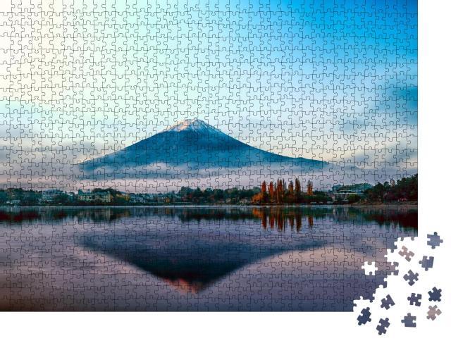 "Puzzle 1000 Teile ""Berg Fuji in den frühen Morgenstunden, Japan"""