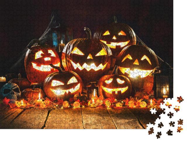 """Puzzle 1000 Teile """"Halloween-Kürbisse"""""""