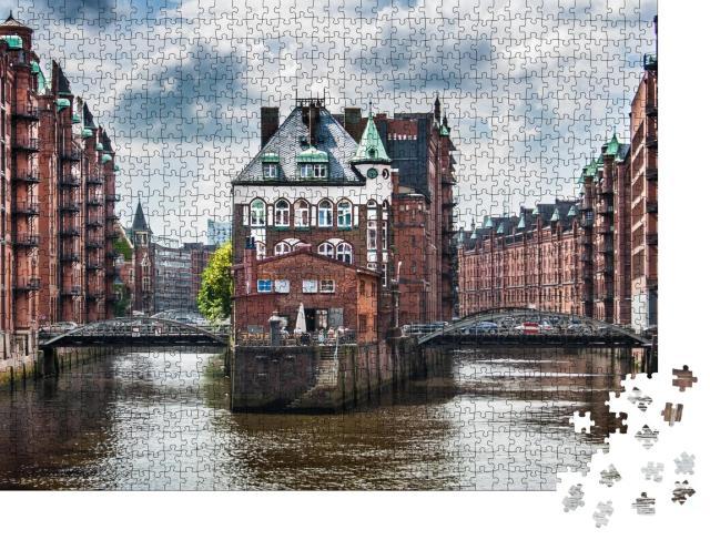 """Puzzle 1000 Teile """"Die berühmte Speicherstadt in Hamburg"""""""