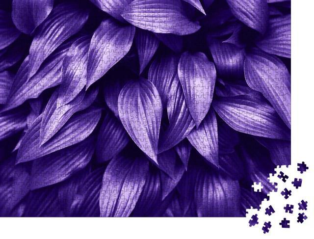 """Puzzle 1000 Teile """"UV-Licht: grüne Blätter wirken intensiv violett"""""""
