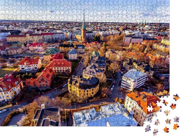 "Puzzle 1000 Teile ""Bunter Frühling in Helsinki, Finnland"""